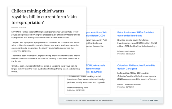 Quickly detect news that generates business opportunities and reveals potential risks