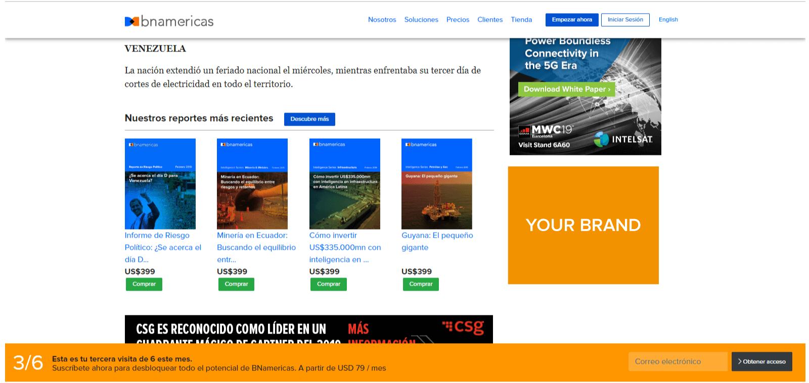 Bnamericas advertising