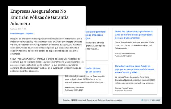 Mantente al día con miles de comunicados de prensa de gobiernos y empresas con intereses en Latinoamérica
