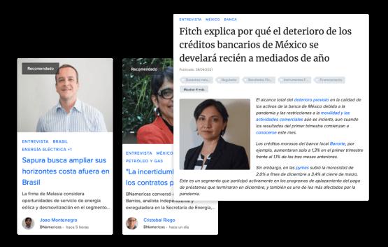 Entrevistas exclusivas a autoridades estatales, analistas y ejecutivos de alto nivel