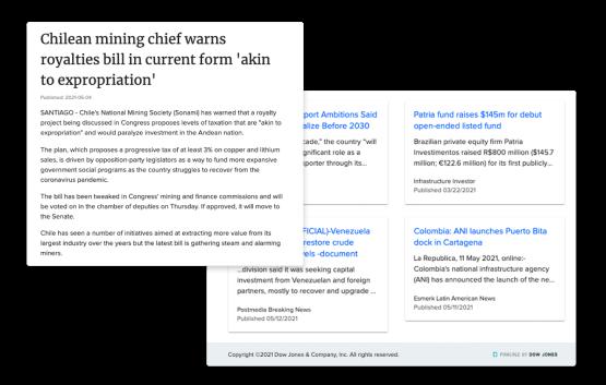 Detecte rapidamente notícias que geram oportunidades de negócios e os riscos potenciais